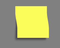 Yellow Post-it. Blank paper note to use it as a reminder or editing Royalty Free Stock Photography