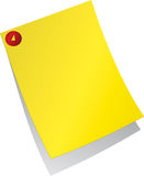 Yellow Post-it Royalty Free Stock Image