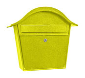 Yellow  post box Stock Photography