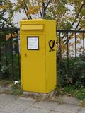 Yellow, Post Box, Letter Box, Mail royalty free stock images