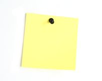 Yellow post-it note Royalty Free Stock Photography