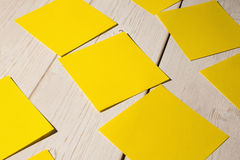 A Yellow post it note Royalty Free Stock Photos