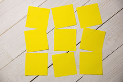 A Yellow post it note Stock Photos