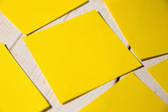 A Yellow post it note Stock Photo