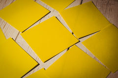 A Yellow post it note Royalty Free Stock Photography