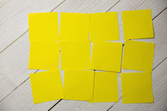 A Yellow post it note Stock Image