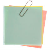 Yellow post-it note Stock Photos