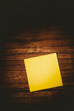 A Yellow post it note Royalty Free Stock Photo