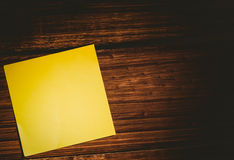 A Yellow post it note Royalty Free Stock Images