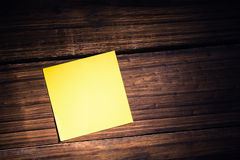 A Yellow post it note Royalty Free Stock Image