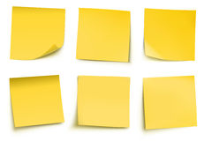 Yellow post it notes Stock Photography