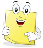 Yellow Post It Sticky Note Character Stock Images