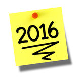 2016 yellow postit Stock Images