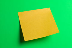 Yellow postit note paper Stock Photography