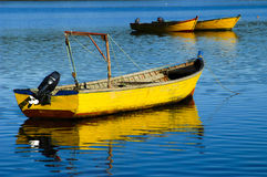 Yellow boat Royalty Free Stock Images