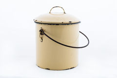 Yellow pot on a white Royalty Free Stock Photo