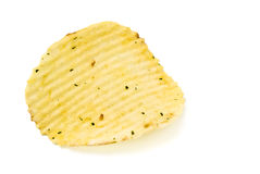 Yellow potato chips closeup Stock Photography