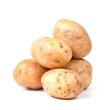 Yellow potato group Stock Photo