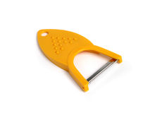 Yellow potato peeler and grater Royalty Free Stock Image