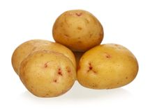 Yellow potato Stock Photography