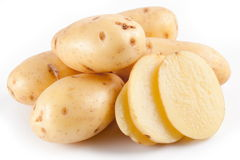 Yellow potatoes Royalty Free Stock Photography