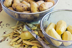 Yellow potatoes Royalty Free Stock Images