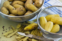 Yellow potatoes Stock Photos