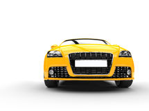 Yellow Powerful Car Front View Stock Images