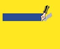 Yellow presentation background. Yellow background presentation with pencil illustration Vector Illustration