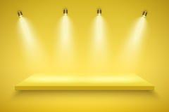 Yellow Presentation platform Stock Photo