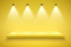 Yellow Presentation platform Stock Image