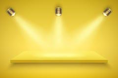 Yellow Presentation platform Royalty Free Stock Photos