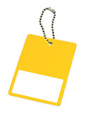 Yellow price tag Royalty Free Stock Photo