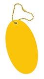 Yellow price tag on white Royalty Free Stock Image