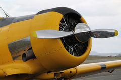Yellow Propeller Fighter Plane Royalty Free Stock Photos