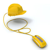 Yellow protection online Royalty Free Stock Photo
