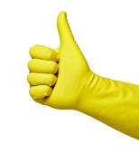 Yellow protective glove Royalty Free Stock Images