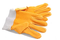 Yellow protective gloves Stock Photo