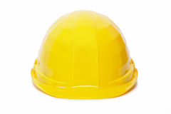 Yellow protective helmet Stock Images