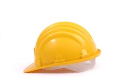 Yellow protective helmet Royalty Free Stock Image