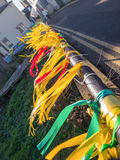 Yellow protest ribbons, Whitstable Kent, UK Royalty Free Stock Photo