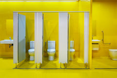 Yellow public restroom. A set of yellow public restroom Stock Image