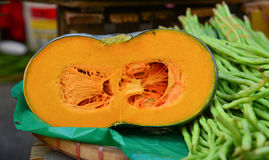 Yellow pumpkin at rural market in Philippines Royalty Free Stock Images