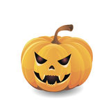 Yellow pumpkin and smiling grin Stock Image