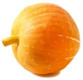 Yellow pumpkin on white Stock Photo