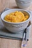 Yellow puree Royalty Free Stock Photography