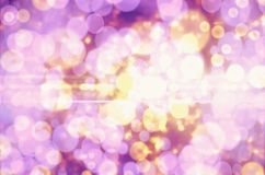 Yellow Purple Bokeh Stock Photography
