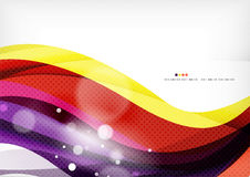 Yellow and purple color lines, abstract background Stock Image
