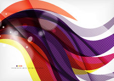 Yellow and purple color lines, abstract background Stock Images