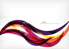 Yellow and purple color lines, abstract background Stock Photography
